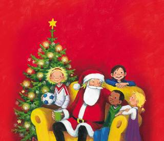 Gestalte deinen personalisierbaren Adventskalender mit dem Weihnachtsmann