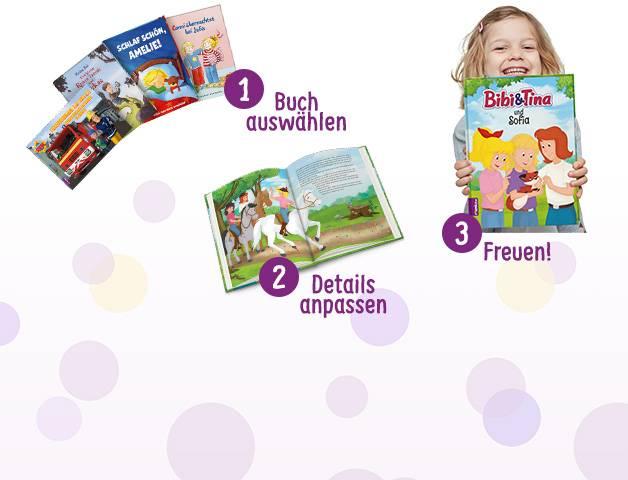 personalisierte Kinderbuecher in drei Schritten gestalten - feature