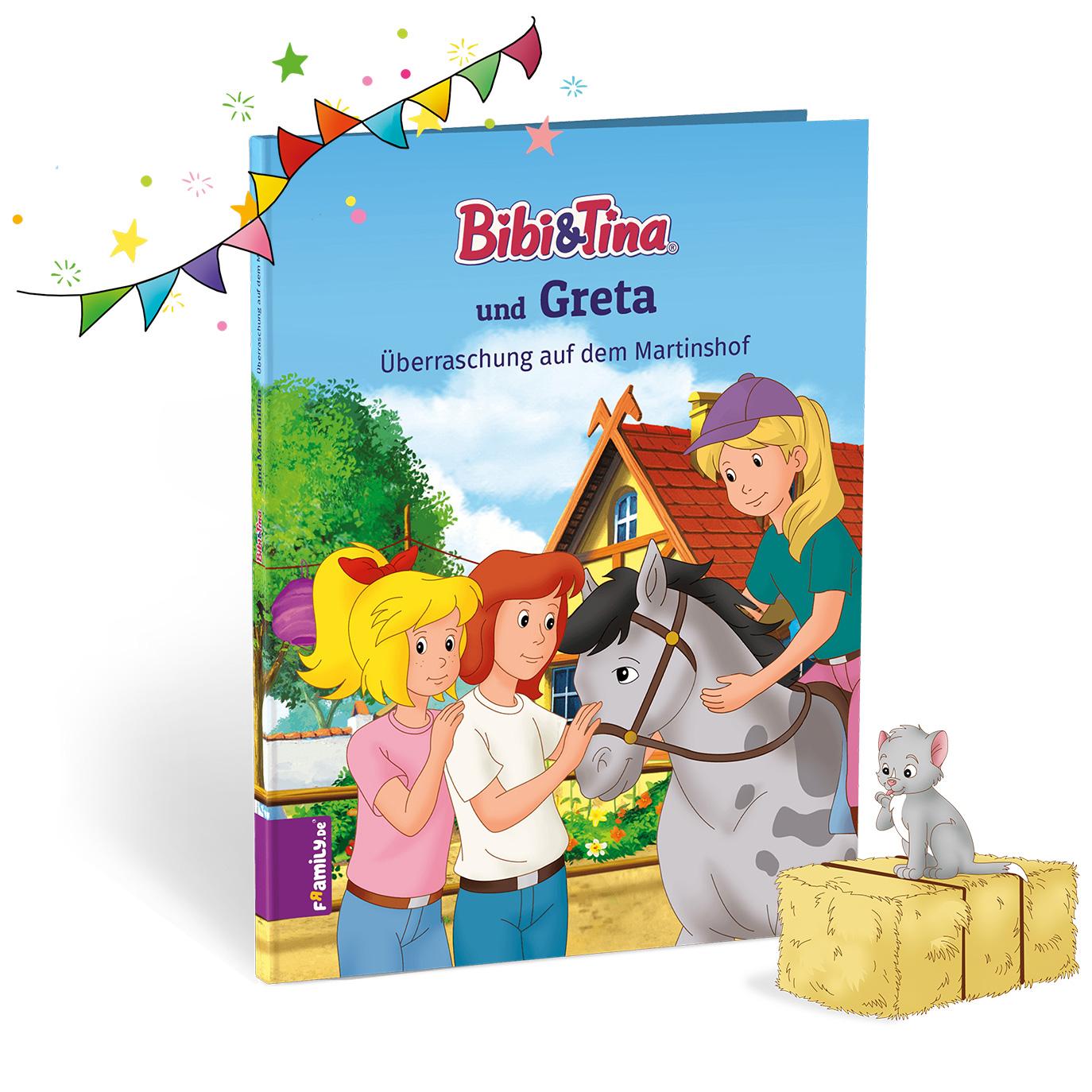 Bibi und Tina Üeberraschung auf dem Martinshof - personalisierte Kinderbuecher