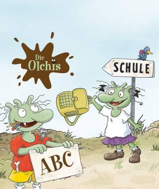 Headerbild fuer das personalisierte Buch Olchis in der Schule