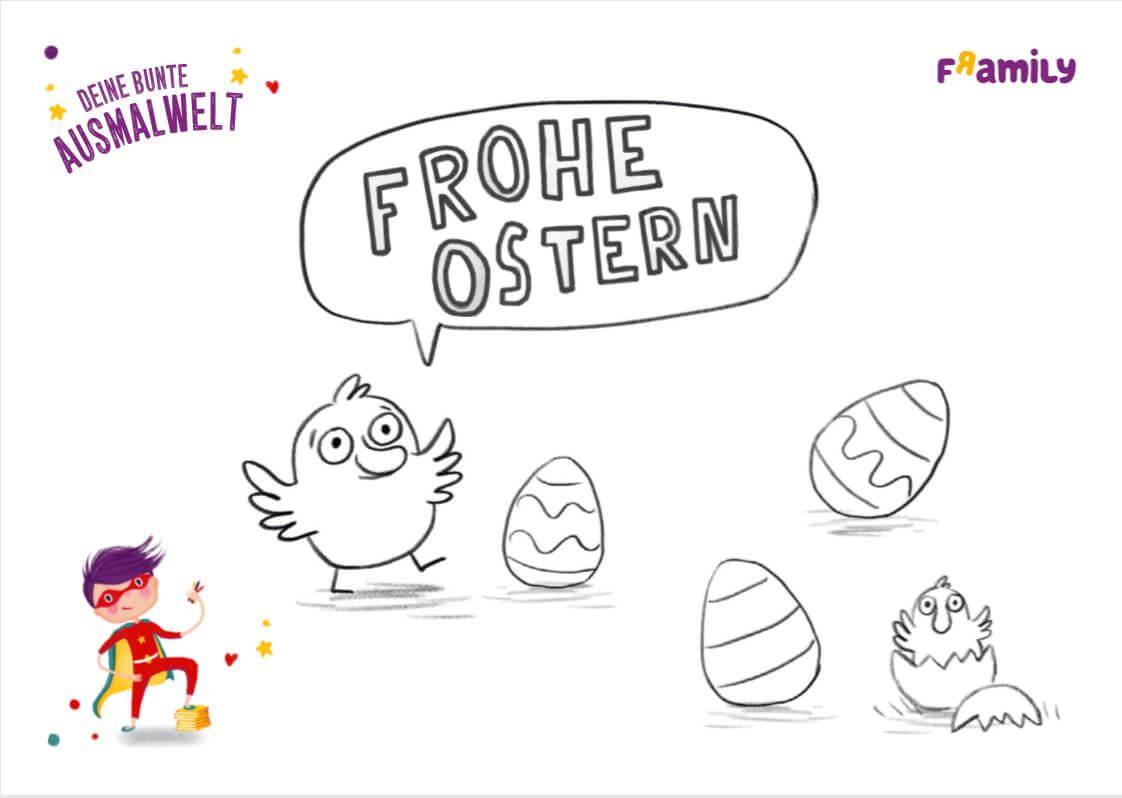Ausmalbilder zu Ostern  Framily