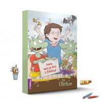 Die Olchis Countdown-Schulstart-Kalender mit Fruchtgummi
