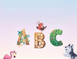 Dein persönliches Tier-Alphabet als buntes Poster