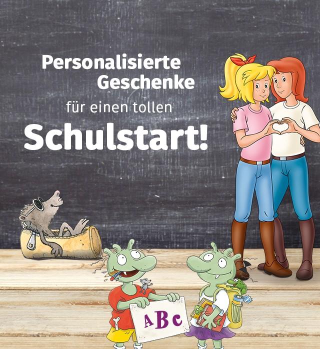 Personalisierte Schulstart Produkte von Framily