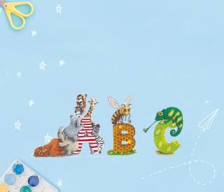 Die individuelle Schultüte mit niedlichen Tieren für jeden Buchstaben