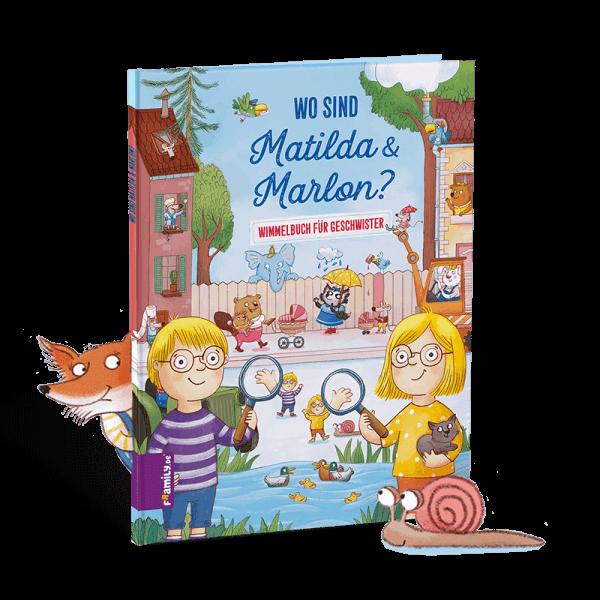 Personalisiertes Kinderbuch Wimmelbuch für Geschwister